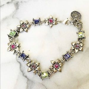 Jewelry - Crystal Flower Link Bracelet, NWT